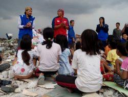 Aksi Relawan BAZNAS di Korban Penggusuran Pasar Ikan luar Batang