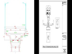 Typical Desain Pilar dan Box Girder Elevated Busway