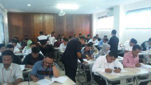 Suasana Ujian Peserta UKDPA di ekolah ganesha ciputat,Tangsel