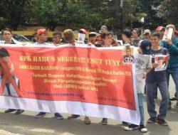 KPK Belum Juga Ada Tindakan, Aliansi Pemuda Anti Korupsi Kembali Gelar Aksi Demo Abdul Kadir Karding