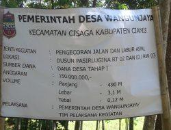 Penghujung Tahun 2016, Desa Wangunjaya Kecamatan Cisaga Kabupaten Ciamis Terus Berbenah
