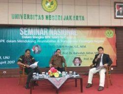 BPK Goes to Campus, Bahrullah Akbar : Peran BPK Dalam Mengkawal Nawacita