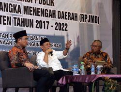 Plt Gubernur Harapkan, Gubernur Banten Terpilih, Bisa Sinergi Rancang RPJMD 2017-2022