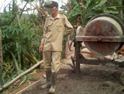 Tuntaskan dan Percepat Pembangunan Desa, Kades Giri Harja Ciamis Blusukan Kelapangan
