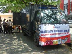 Dukung Program Pemerintah, Polisi Adakan Operasi Pasar Murah di Tangsel