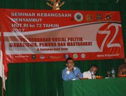 Seminar Kebangsaan Sosial Politik, Mahasiswa Dihimbau Harus Berwawasan Luas