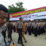 Sebanyak 274 Personil Pasukan Polisi Polres Ciamis Siap Mengamankan Pilkada di Wilayah Pangandaran
