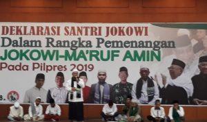 Presidium Santri, All Out Dukung Jokowi-Ma'ruf Amin di Pilpres 2019