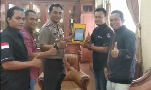 Jurnalis Online Indonesia Gelar Silaturahmi Ke Polres Indramayu