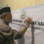 Usai Press Conference, Seluruh Stakeholder YPP Alkamal Jakarta Gelar Aksi Tandatangan Tolak Narkoba