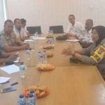 Kapolsek Cisauk Bersama Koordinator BSD Gelar Rapat Koordinasi terkait Rencana Uji CobaTraffic Light di prapatan Pasar Intermoda