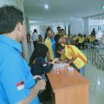 Pastikan Pemudik Nyaman, BNK Tangerang gelar Tes Urine Sopir Bus Mudik Gratis 2019