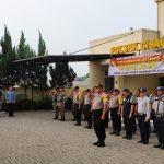 Dalam Rangka Ops Ketupat Jaya 2019, Kapolsek Cisauk Pimpin Apel Gelar Pasukan Pengamanan Takbiran dan Idul Fitri 1440 H
