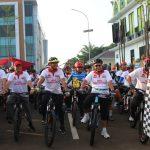 Meriahkan Hut Bhayangkara Ke 73, Polres Tangsel Gelar Sepeda Santai