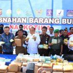 Danlanud SIM Hadiri Pemusnahan Barang Bukti Narkoba Di Blang Padang
