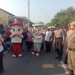 Polres Cirebon Gelar Pengamanan Jalan Santai Dalam Rangka HUT RI Ke-74 dan Anniversary Bawaslu Ke-1