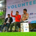 Kasat Narkoba Polres Tangsel Jelaskan Bahaya Narkoba Di Acara Millennial Dan Humanitarian Volunteers