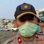 Antisipasi Covid 19 Polres Tangsel Semprot Disinfektan Di Sejumlah Ruas Jalan Utama