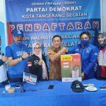 Bentuk Kepedulian Partai Demokrat; DPC Tangsel Berikan Alat Semprot dan Cairan Desinfektan Di DPAC 7 Kecamatan Tangsel