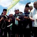 Aktor Indonesia Aldi TaherBersama Reza Bacalon Cagub Cawagub Sumbar Hadiri Peletakan Batu Pertama Ponpes Nurul Alamiyah Pontianak