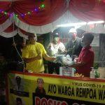 Antisipasi penyebaran Covid-19, Posko Gugus Covid-19 RW 008 Dibantu karang taruna, Rt dan Rw kelurahan Rempoa, Bagikan masker dan Sembako