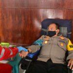 Hut Bhayangkara Ke-74, Polres Indramayu Gelar Bhakti Sosial Donor Darah