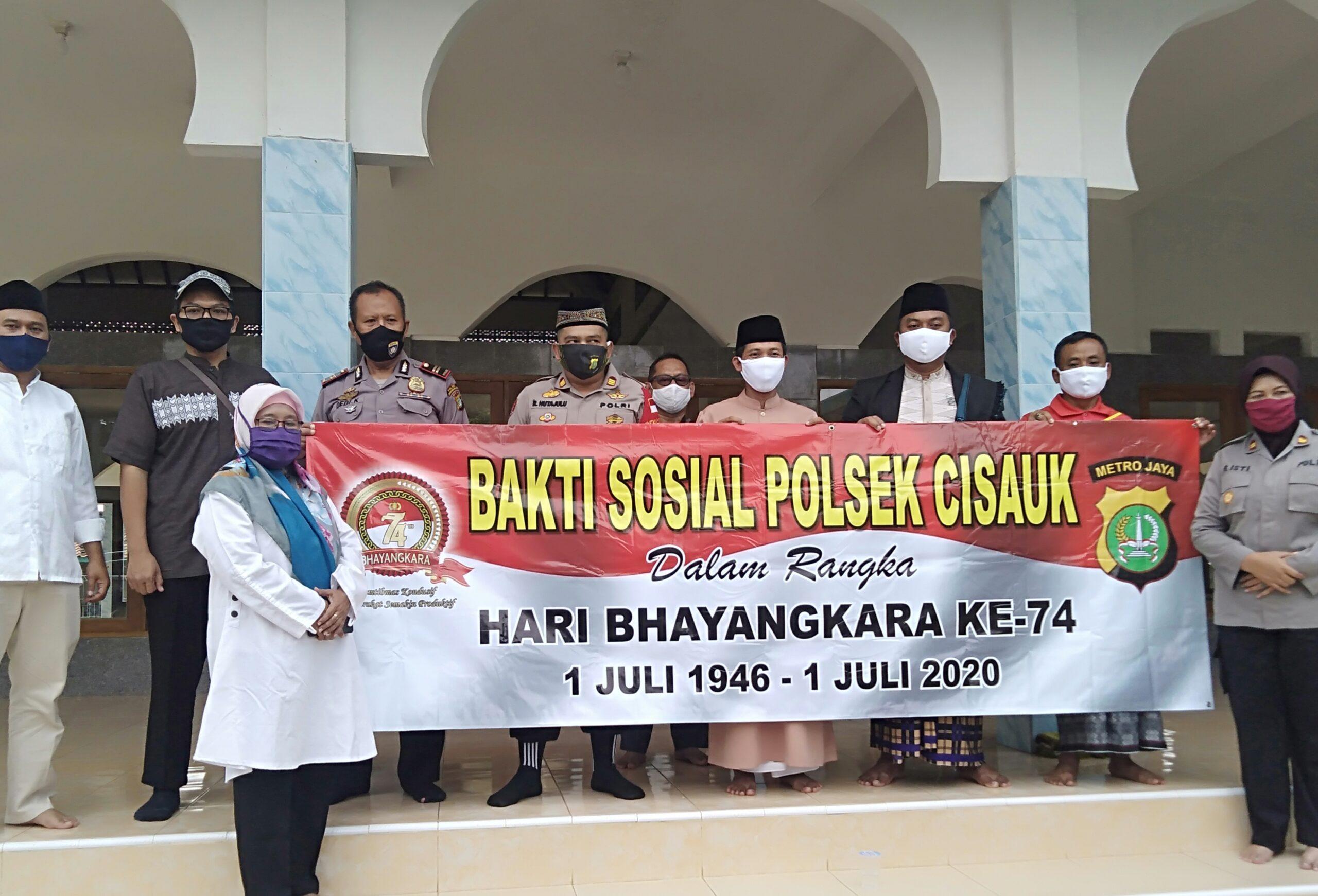 Polsek Cisauk Bhakti Sosial Santunan Anak Yatim di Kampung Sarimulya