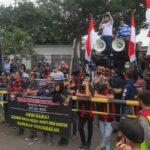 Polsek Arcamanik Polrestabes Bandung, Pengamanan Aksi Unras di PJN Tk. II Provinsi Jabar