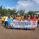 Dalam Rangka Menyemarakkan HUT ke-75 Kemerdekaan Republik Indonesia, Forkompincam Balongan menggelar Gowes bersama