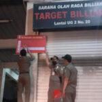 Pasca Ditindak Polisi, Satpol PP Kota Tangerang Segel Tiga Arena Billiard