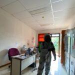 Unit KBR Jabar Lakukan Penyemprotan Disinfektan di Gedung ASN Corporate University