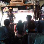 Himbau Masyarakat yang Menggunakan Jasa Angkutan Umum Untuk Selalu Menerapkan Protokol Kesehatan