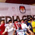 Muhamad-Saras mendaftar ke Komisi Pemilihan Umum (KPU) Kota Tangerang Selatan (Tangsel)