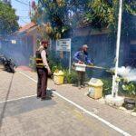 Polsek Buah Batu Polrestabes Bandung, Monitoring Kegiatan Penyemprotan Foging Antisipasi DBD