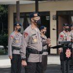 Dansat Brimob Polda Jabar Pimpin Upacara Korps Raport Kenaikan Pangkat