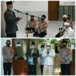 Polsek Cilandak Sosialisasi Prokes Melalui Program Safari Shubuh Kamtibmas di Masjid Jami' Al – Barkah Lebak Bulus