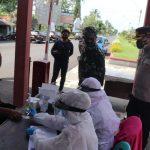 Kapolres Ciamis Bersama Dandim 0613 Lakukan Peninjauan Pelaksanaan Rapid Anti Body Kepada Pengunjung Pantai Pangandaran