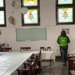 Brimob Polda Jabar Kembali Semprotkan Gereja Bethel Bandung Dengan Disinfektan