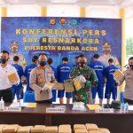 Danlanud SIM Menghadiri Press Realise Narkotika Jenis Ganja Di Polresta Banda Aceh