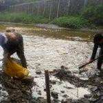 Satgas Citarum Harum Sektor 22 Sub 14, Bersihkan Sungai Cikapundung
