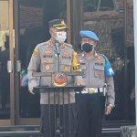 Kapolres Cirebon Kota, ucapkan terima kasih kepada anggota atas pelaksanaan tugas, dalam Apel pagi.