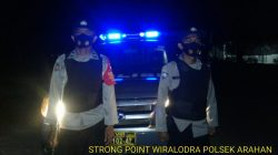 Anggota Polsek Arahan Antisipasi C-3 Patroli Strong Point Wiralodra