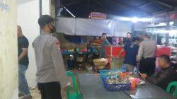 Anggota Polsek Terisi Giat KRYD Himbauan Prokes Di Tempat Keramaian Pasar