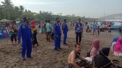 Sat Pol Air Polres Ciamis Lakukan Pengamanan di Kawasan Obyek Wisata Pangandaran