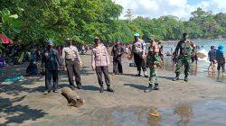 Polsek Cijulang Giat Pengamanan di Kawasan Obyek Wisata Batu Karas