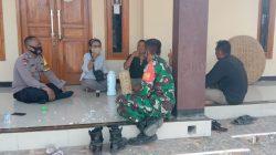 Silaturahmi Kamtibmas Bersama Warga Desa Pangauban Anggota Polsek Lelea
