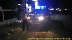 Giatkan Patroli Strong Point Wiralodra Antisipasi C-3 Wilayah Hukum Polsek Cikedung