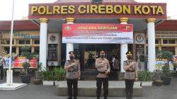 Kapolres Cirebon Kota, serah terimakan wakapolres. Kabag ops dan kapolsek