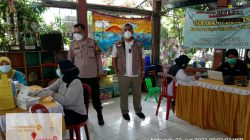 Bhabinkamtibmas Bersama Tiga Pilar Grogol Utara Monitoring Pelaksanaan Vaksinasi Covid-19