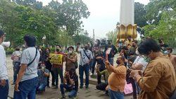 Kecam Intimidasi Wartawan Oleh Kadispora, Jurnalis Tangsel Unjuk Rasa